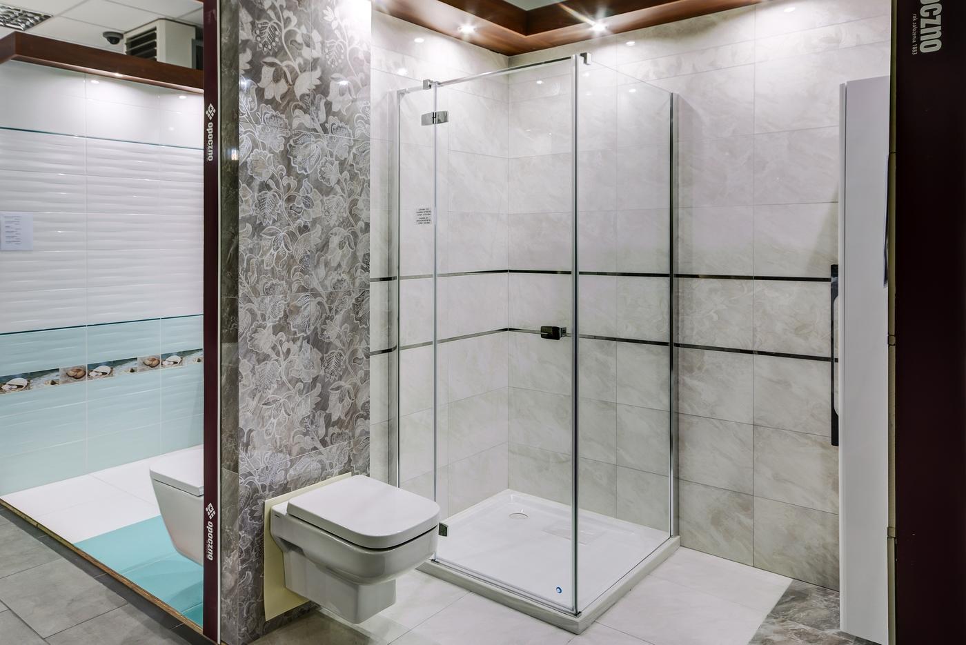 Salon łazienek Ewand Projektowanie Płytki łazienki Kuchnie